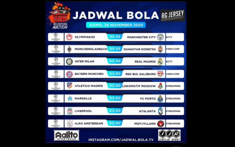 Jadwal Liga Champions Malam ini   WartaLampung.id